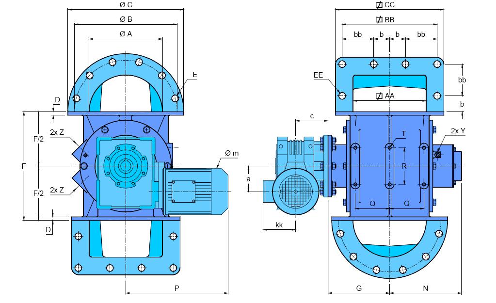 écluse R-AX schéma version motorisée