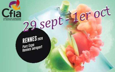 Retrouvez-nous au CFIA Rennes 2020